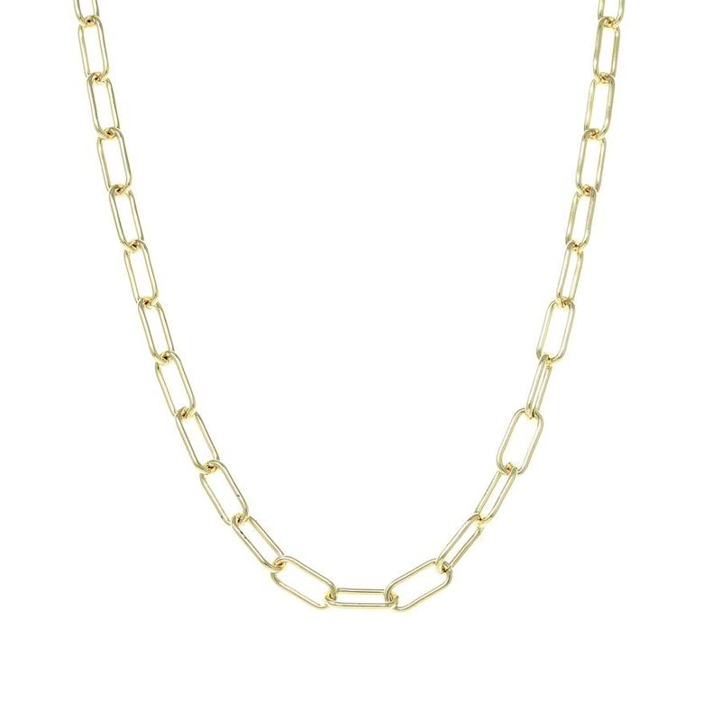 Gold Oxford Chain Necklace - Lulu B Jewellery