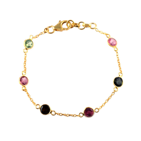 Gold Willow Bracelet with Tourmaline - Lulu B Jewellery