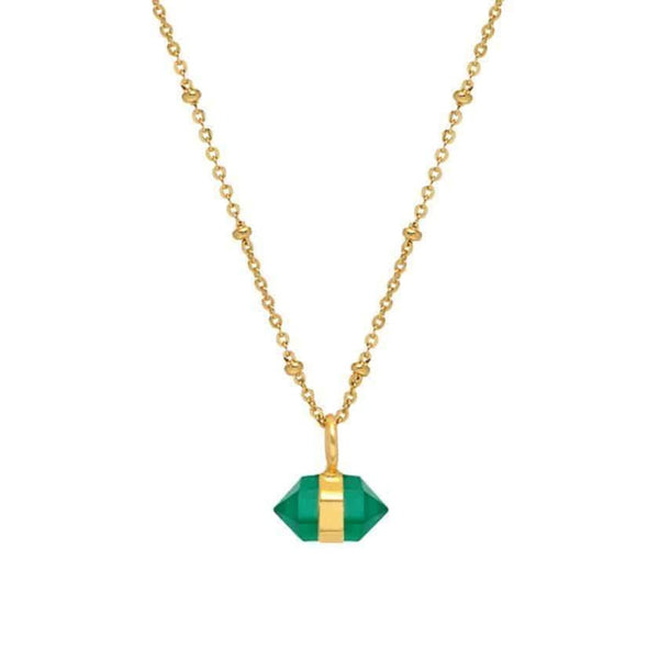 Gold Tia Necklace with Green Onyx - Lulu B Jewellery