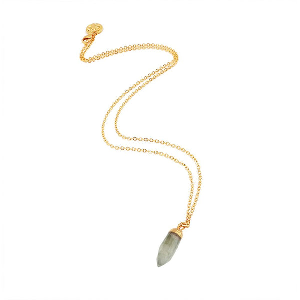 Gold Inca Necklace with Fang - Lulu B Jewellery