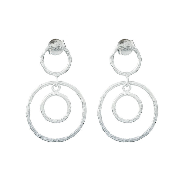 Silver Rosie Drop Earrings - Lulu B Jewellery