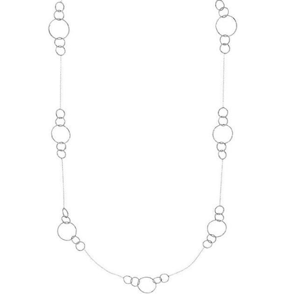 Silver Rosie Necklace - Lulu B Jewellery