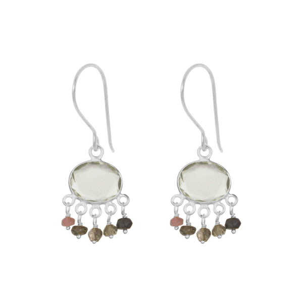 Silver Isla Drop Earrings - Lulu B Jewellery