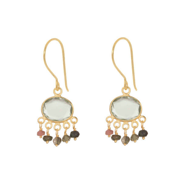 Gold Isla Drop Earrings - Lulu B Jewellery
