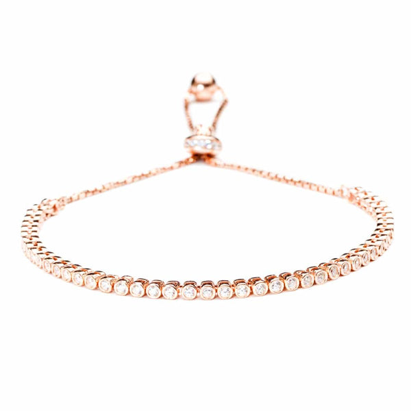 Rose Gold Grace Tennis Bracelet - Lulu B Jewellery