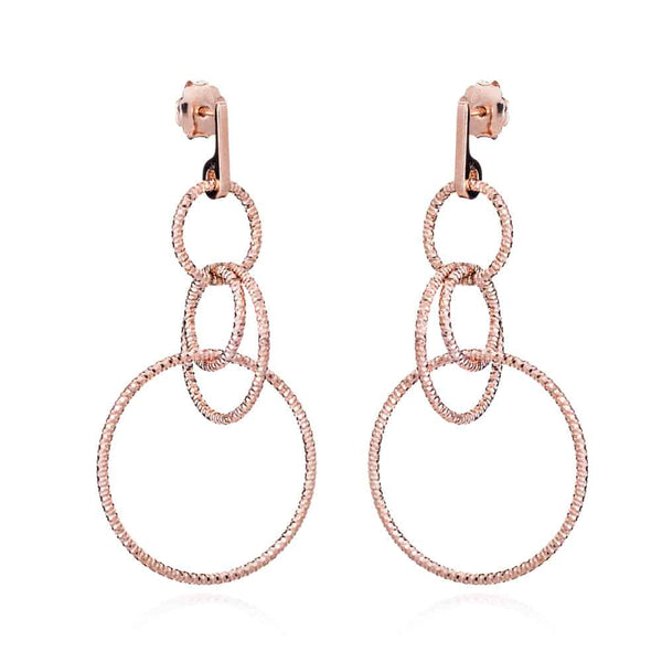 Rose Gold Liz Stud Drops - Lulu B Jewellery