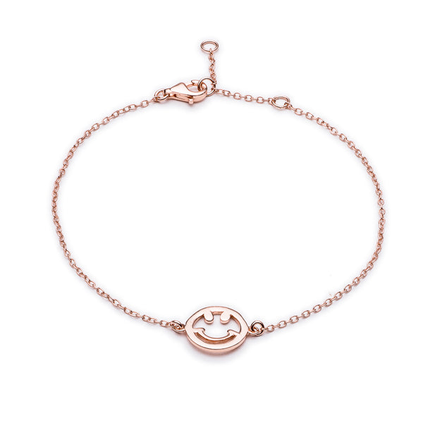 Rose Gold Smile Bracelet - Lulu B Jewellery
