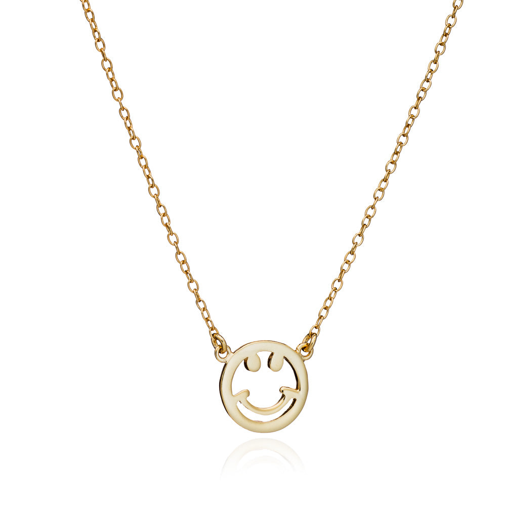 Gold Smile Necklace - Lulu B Jewellery