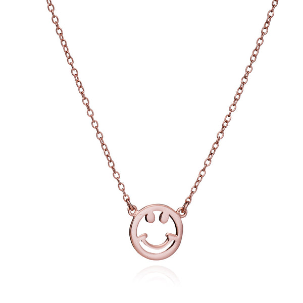 Rose Gold Smile Necklace - Lulu B Jewellery