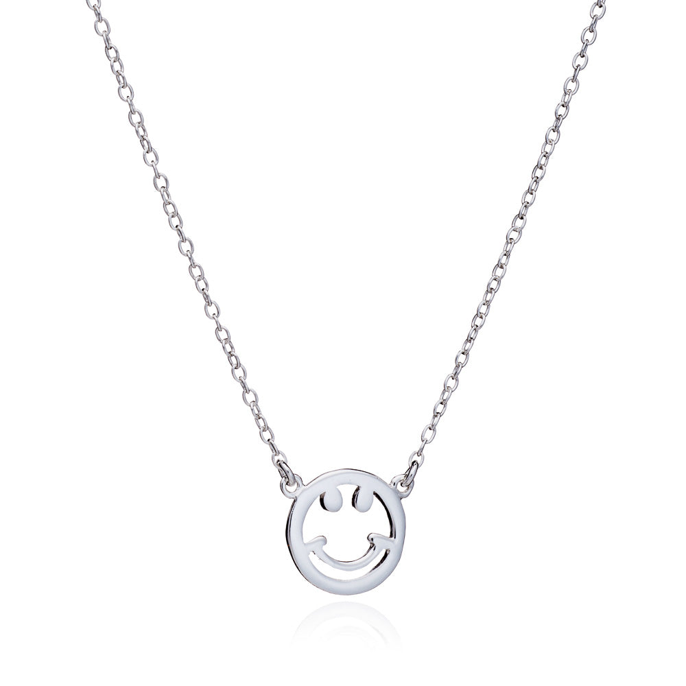 Silver Smile Necklace - Lulu B Jewellery