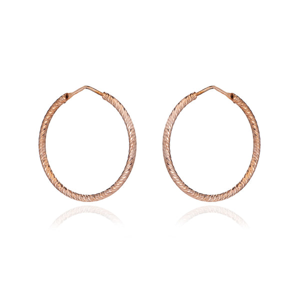 Holly Diamond Cut Hoop Earrings (Medium) - Lulu B Jewellery