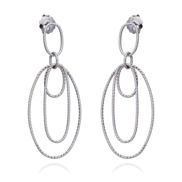 Silver Lucy Drop Earrings - Lulu B Jewellery
