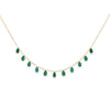 Gold Lottie Necklace with Green Onyx Drops - Lulu B Jewellery