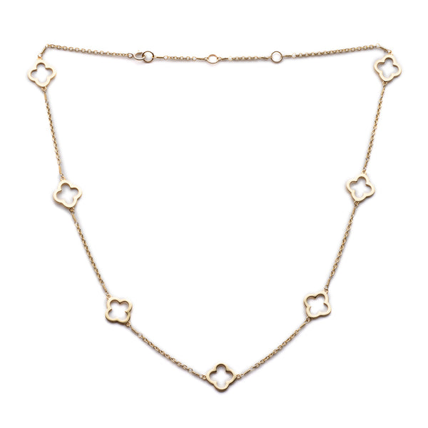 Gold Clover Chain Necklace - Lulu B Jewellery