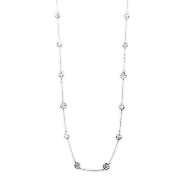 Silver Finsbury Necklace (Long) - Lulu B Jewellery