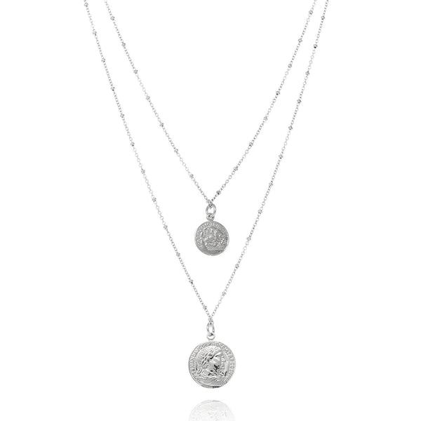 Silver Penny Chain Necklace - Lulu B Jewellery