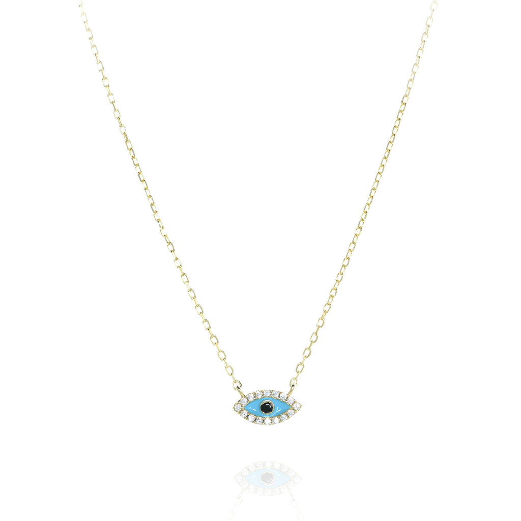 Gold Evil Eye Necklace - Lulu B Jewellery