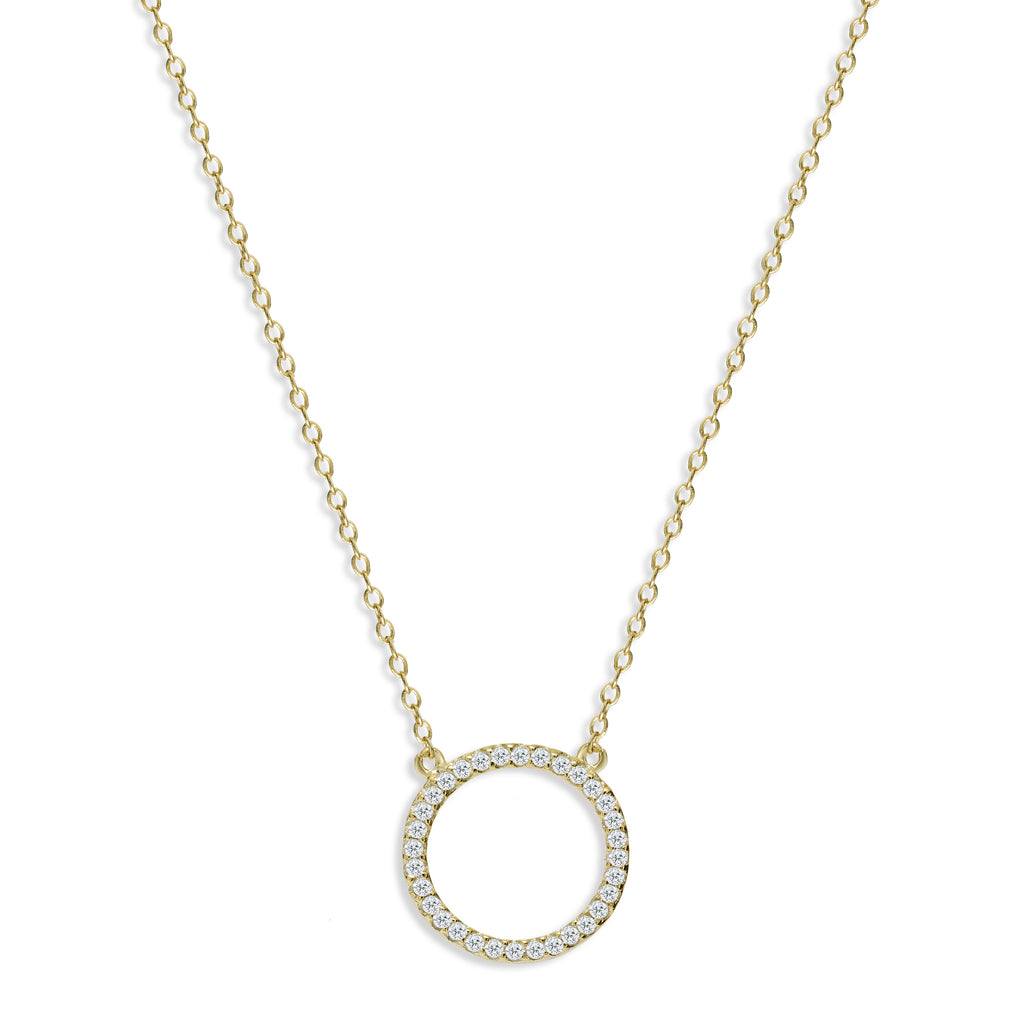 Gold Kingsbury Halo Necklace - Lulu B Jewellery