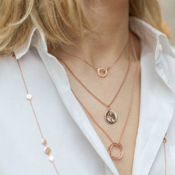 Rose Gold Karma Necklace - Lulu B Jewellery