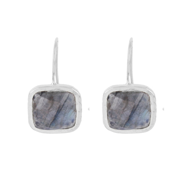 Silver Bloomsbury Drops with Labradorite - Lulu B Jewellery