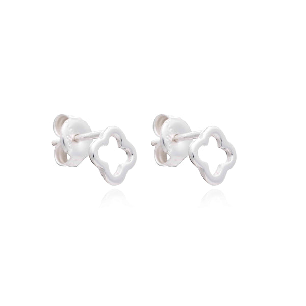 Silver Clover Stud Earrings - Lulu B Jewellery