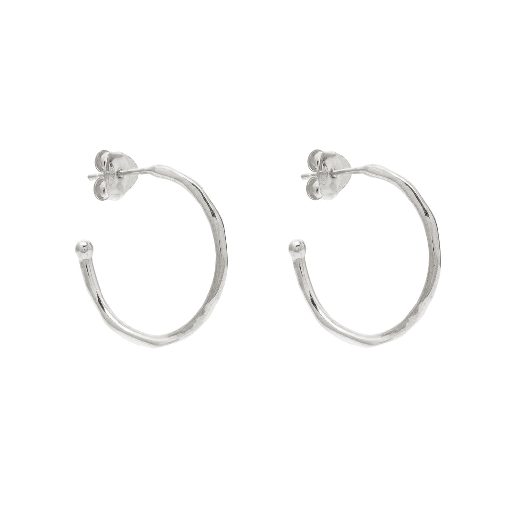 Silver Honor Hoop Earrings - Lulu B Jewellery