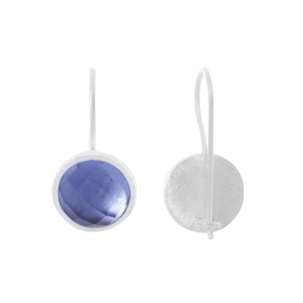 Silver Temperley Drop Earrings with Iolite - Lulu B Jewellery