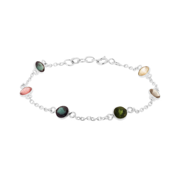 Silver Willow Bracelet with Tourmaline - Lulu B Jewellery