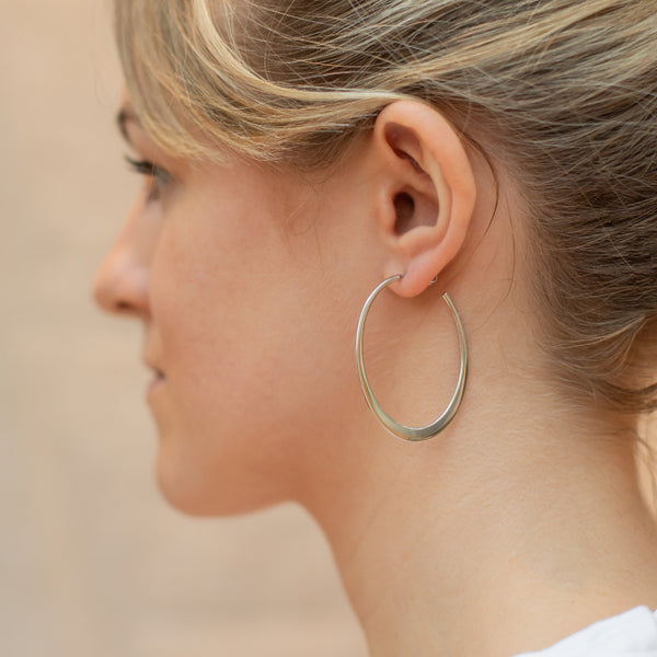 Silver Wetherby Hoop Earrings - Lulu B Jewellery