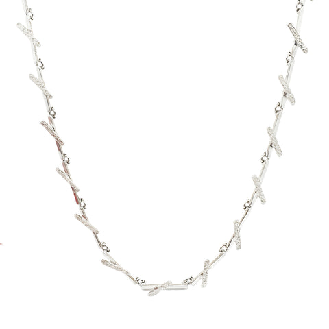Silver X Chain Necklace - Lulu B Jewellery