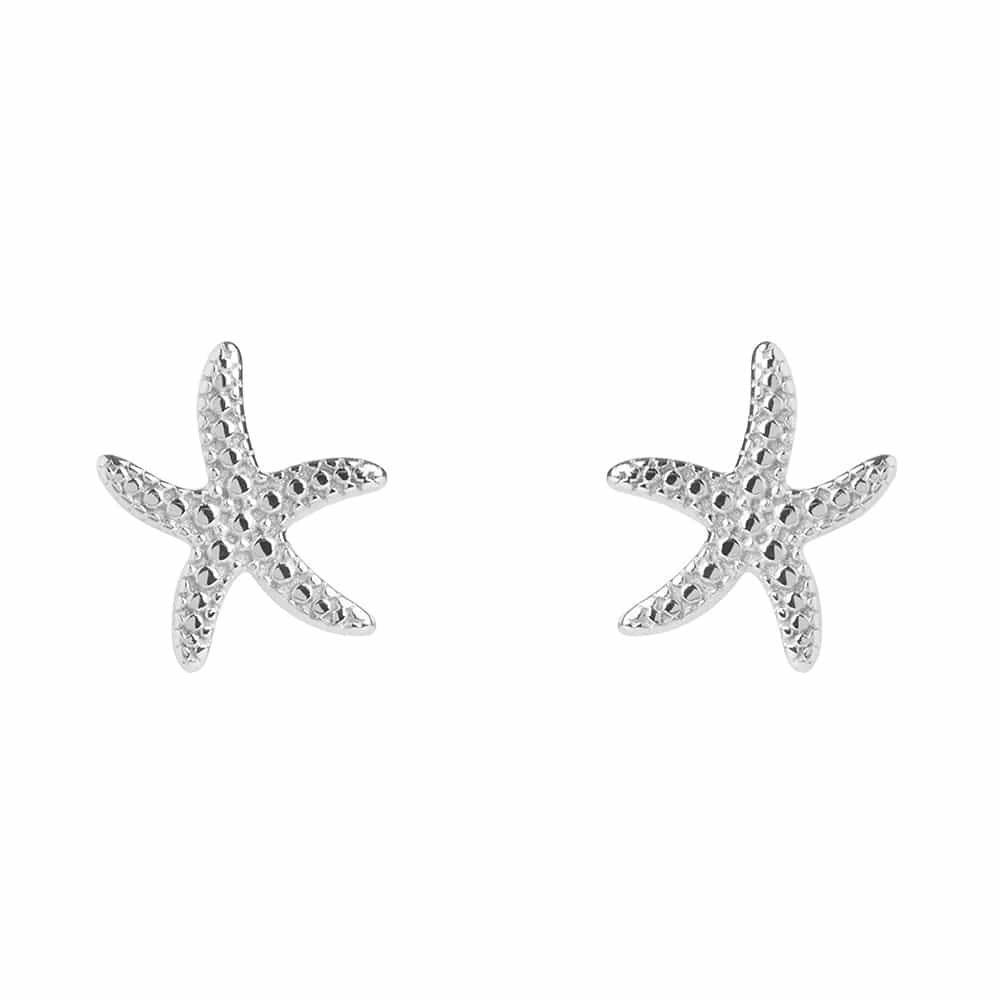 Silver Starfish Stud Earrings - Lulu B Jewellery
