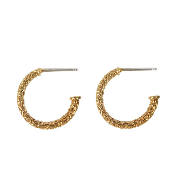 Gold Holborn Hoops - Lulu B Jewellery