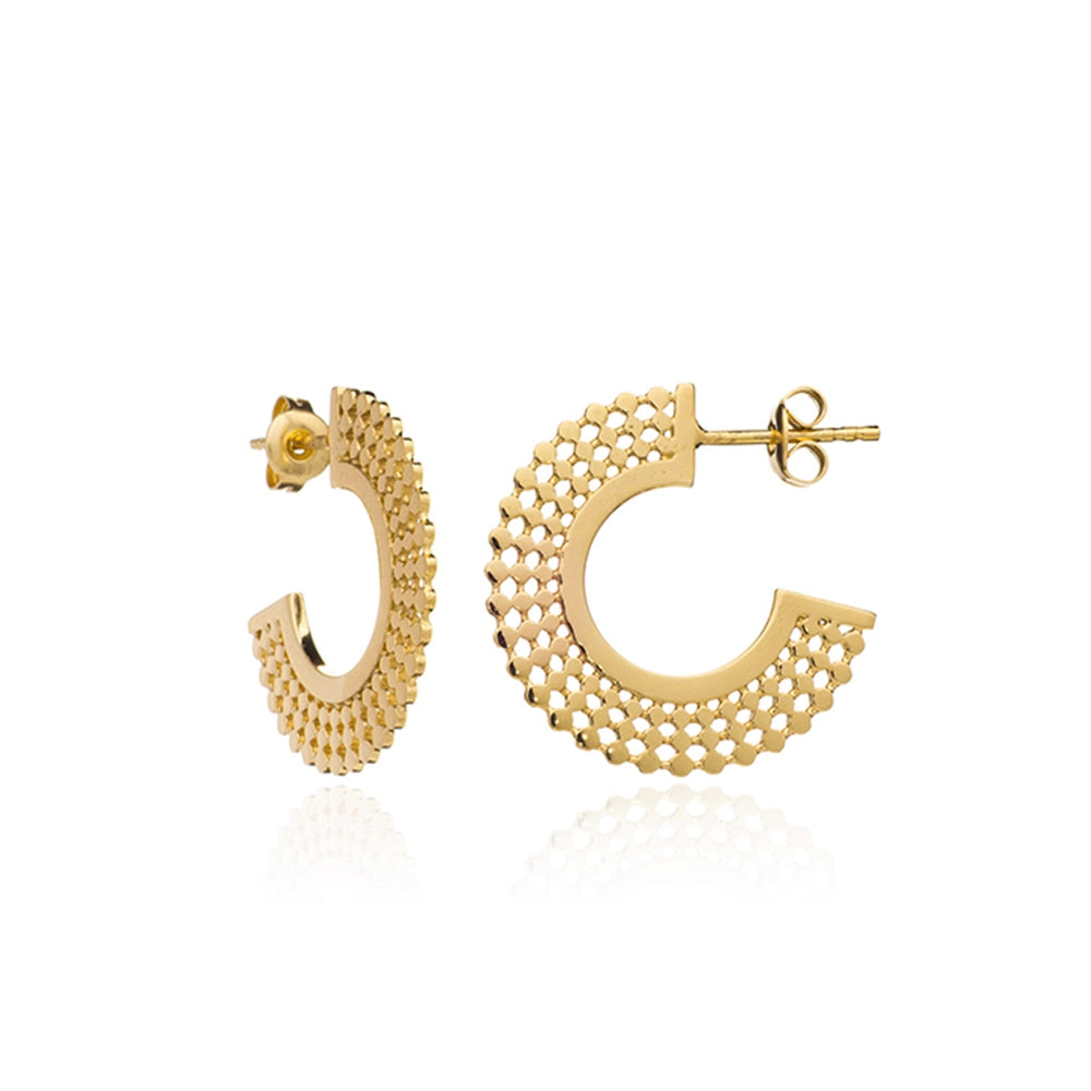 Gold Helio Hoop Earrings - Lulu B Jewellery