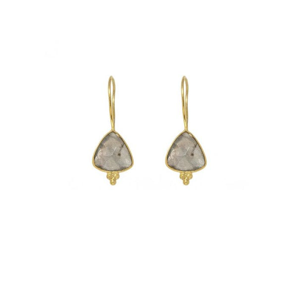 Gold Ana Drop Earrings with Labradorite - Lulu B Jewellery