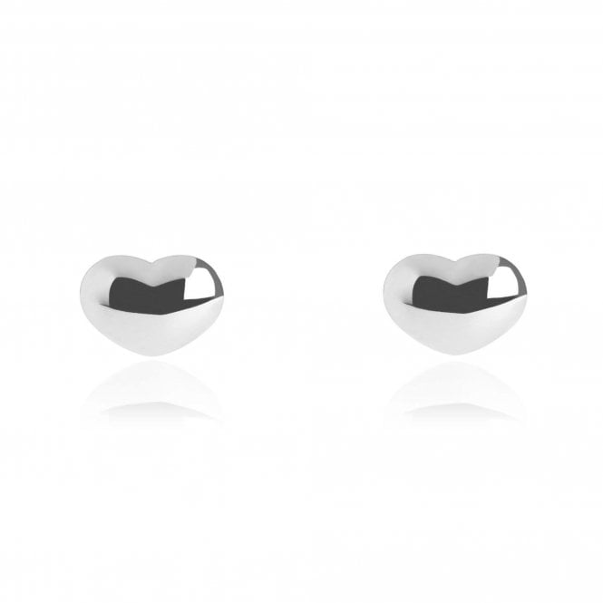 Silver Heart Stud Earrings - Lulu B Jewellery