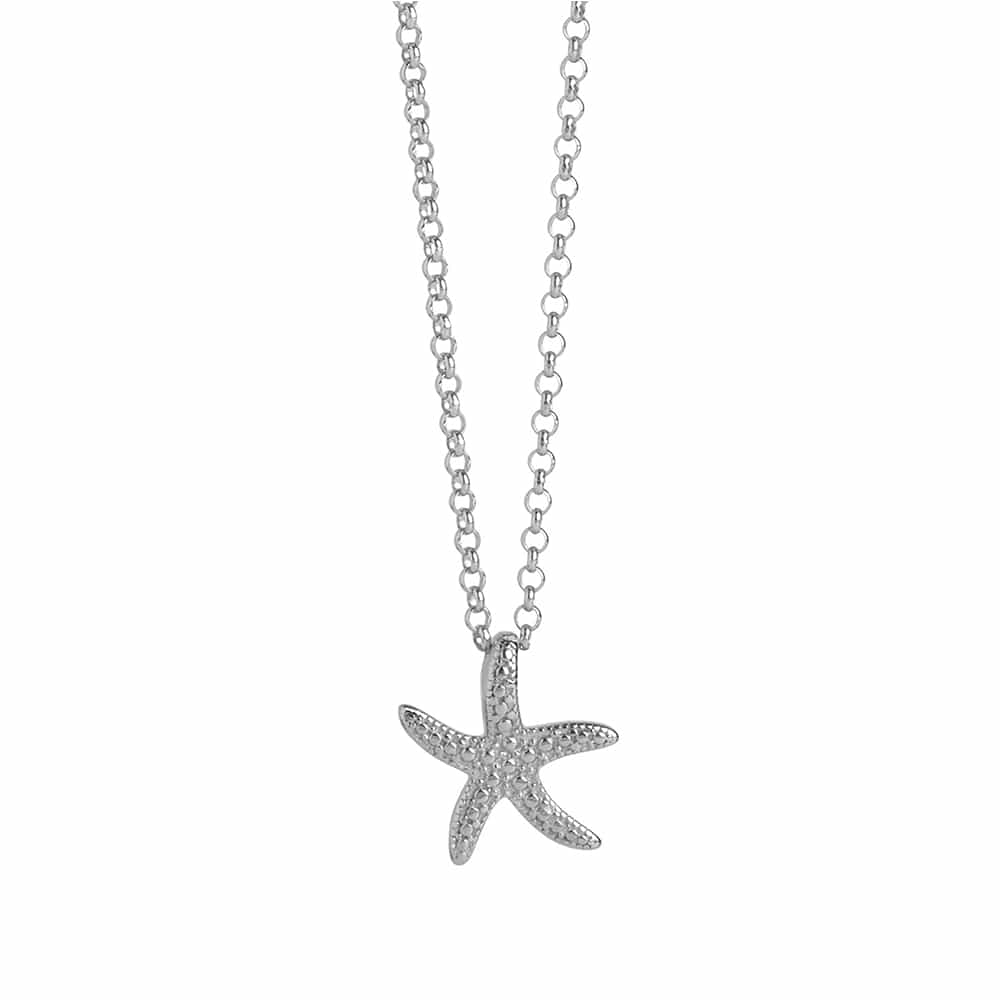 Silver Starfish Necklace - Lulu B Jewellery