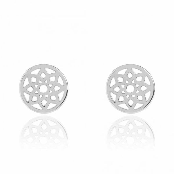 Silver Prosperity Stud Earrings - Lulu B Jewellery