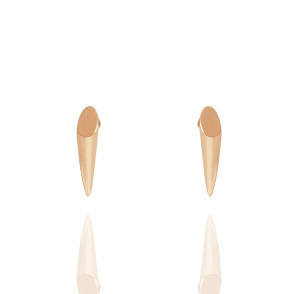 Rose Gold Horn Stud Earrings - Lulu B Jewellery