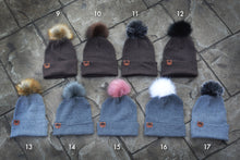 Load image into Gallery viewer, WWB BEANIES w/ FAUX FOX FLUFF
