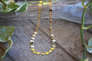 Coin Chain Dainty Choker Necklace