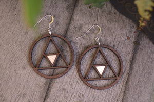 Geometric Hoops with Moonstone