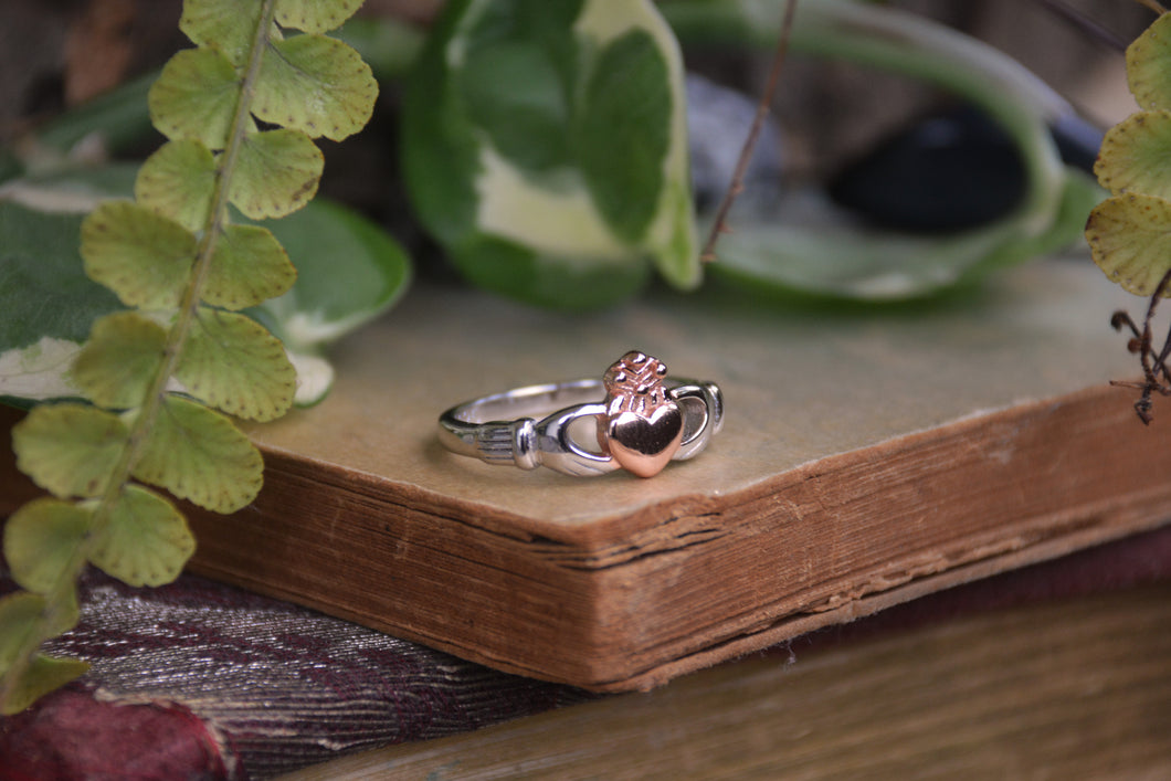 Sterling Silver Claddagh Rose Ring