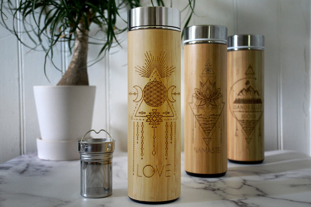 LOVE Bamboo Bottle