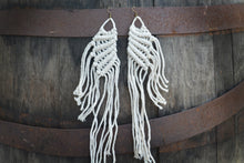 Load image into Gallery viewer, Large Wings Macrame Earrings