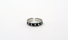 Load image into Gallery viewer, Sterling Silver Moon & Star Toe Ring