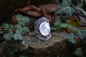 Mother of Pearl Goddess Ring