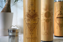 Load image into Gallery viewer, NAMASTE Bamboo Bottle