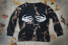 Load image into Gallery viewer, Skeleton Hands Reverse Tie Dye Sweater