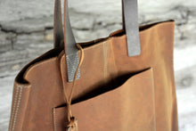 Load image into Gallery viewer, Brown Leather Tote