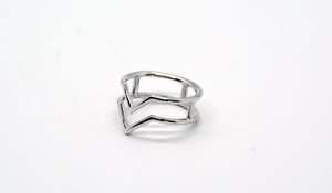 Sterling Silver VV Ring